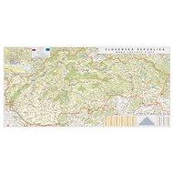 Slovensko silniční XL 1:250t,90x175cm lamino, plastové lišty nástěnná mapa