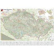 Česká republika automapa 140x200cm lamino, lišty nástěnná mapa