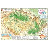 Česká republika zeměpisná 140x200cm lamino, lišty nástěnná mapa
