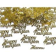 Konfety Happy New Year zlaté 4x2cm - silvestr - 3g - Party doplňky