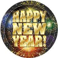 Talíře Happy New Year - Silvestr - 17,5 cm - 8 ks - Jednorázové nádobí
