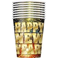 Kelímky Happy New Year - Silvestr - 0,3 l - 8 ks - Party doplňky