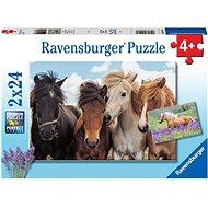 Ravensburger 051489 Photos of horses 2x24 pieces