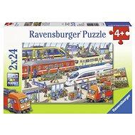 Ravensburger 091911 Vlakové nádraží 2x24 dílků