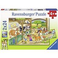 Ravensburger 091959 Day on the farm 2x24 pieces