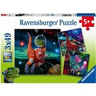 Ravensburger 051274 Dinosauří svět 3x49 dílků  - Puzzle