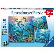 Ravensburger 051496 Pod vodou 3x49 dílků