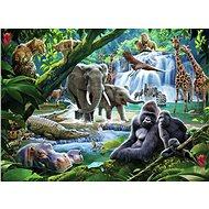 Ravensburger 129706 Rodina z džungle 100 dílků  - Puzzle