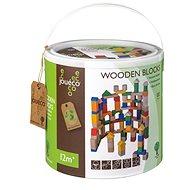 Jouéco dřevěné kostky v kyblíku 100ks
