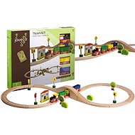 Jouéco wooden train with a track of 30 pcs