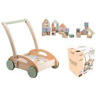 Jouéco The Wildies Family dřevěný vozíček s kostkami
