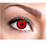 Contact Lenses - Red Metatron - Halloween - Costume Accessory