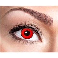 Contact Lenses - Red with Black Stripe - Halloween - Costume Accessory