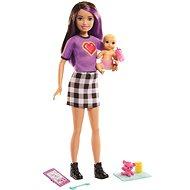 Barbie Chůva Skipolly Pocketer + miminko a doplňky - Panenky
