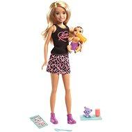 Barbie Chůva Blondýna + miminko a doplňky - Panenky