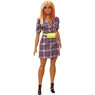 Barbie Modelka - Kárované šaty se žlutou ledvinkou - Panenky