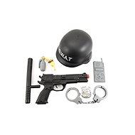 Sada policie SWAT helma+pistole - Doplněk ke kostýmu