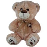 Medvěd s mašlí Hnědý - 40 cm - Plyšový medvěd
