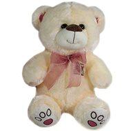 Medvěd s mašlí Béžový - 40 cm - Plyšový medvěd