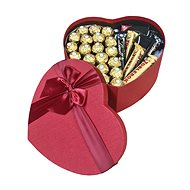 """Heart-shaped gift box for men """"Black Label whiskey"""" 27 cm - Gift Box"""
