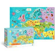 Puzzle Mapa Evropy  -100 dílků