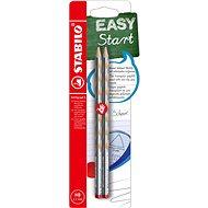 STABILO EASYgraph S metallic Edition R HB stříbrná - balení 2 ks - Grafitová tužka