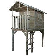 Domeček dětský dřevěný s žebříkem Vyhlídka - Dětský domeček