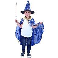 Rappa modrý čarodějnický plášť s kloboukem - Dětský kostým