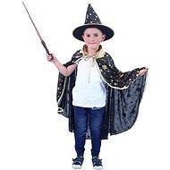 Rappa černý čarodějnický plášť  s kloboukem - Dětský kostým