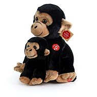 Rappa plyšová opice s mládětem se zvukem 27 cm