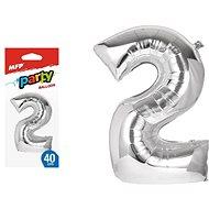 Balónek č. 2 nafukovací fóliový 40 cm