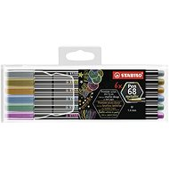 STABILO Pen 68 metallic 6 ks plastové pouzdro - Fixy