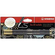 STABILO Pen 68 metallic 2 ks zlatá v blistru - Fixy