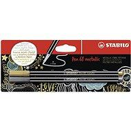STABILO Pen 68 metallic zlatá a stříbrná v blistru - balení 2 ks - Fixy