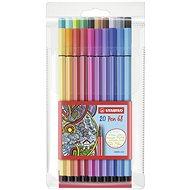 STABILO Pen 68 20 ks plastové pouzdro - Fixy