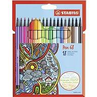 STABILO Pen 68 kartonové pouzdro 18 barev