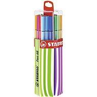 STABILO Pen 68 Twin Pack pouzdro růžová/zelená 20 barev - Fixy
