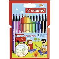 STABILO Pen 68 Mini kartonové pouzdro 12 barev