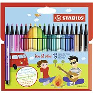 STABILO Pen 68 Mini kartonové pouzdro 18 barev - Fixy