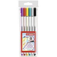 STABILO Pen 68 brush pouzdro 6 barev - Fixy