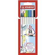 STABILO Pen 68 brush 8 ks pouzdro - Fixy