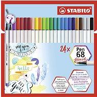 STABILO Pen 68 brush pouzdro 24 barev - Fixy