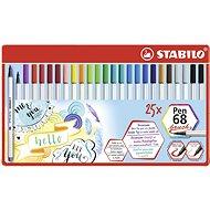 STABILO Pen 68 brush kovové pouzdro 25 barev