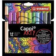 """STABILO Cappi 12 ks pouzdro """"ARTY"""" - Fixy"""