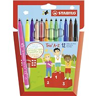 STABILO Trio A-Z pouzdro 12 barev