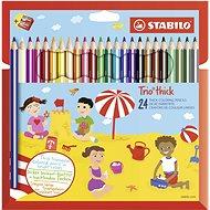 STABILO Trio silné, pouzdro s ořezávátkem 24 barev