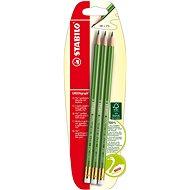 STABILO GREENgraph grafitová tužka s gumou, 3 ks blister - Tužka