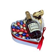 Easter Gift Box with Hennessy Cognac and Lindt Chocolates 25cm - Gift Box