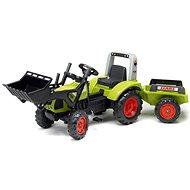 Šlapací traktor Falk Traktor šlapací Clas Arion 430 s nakladačem a vlečkou
