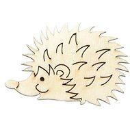 Optys dřevěný výřez ježek malý, 6,3 X 4 cm - Dřevěné výřezy